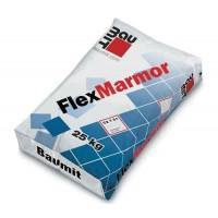Baumit FlexMarmor біла еластична клеюча суміш для приклеювання плитки з природного і штучного каменю, клас С2Т, шар від 4-20мм (25 кг)