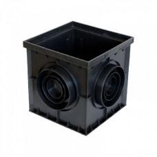 Дощоприймач PolyMax Basiс ДП-30.30 пластиковий чорний 8370-Ч
