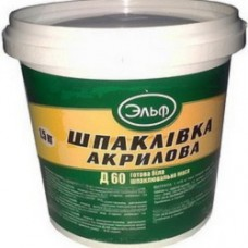 Шпатлівка акрилова 1,5кг Д60 Ельф